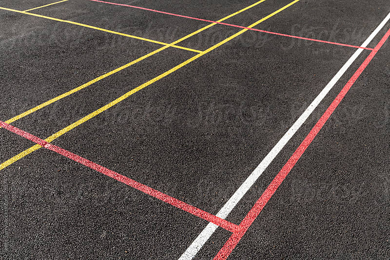 Court lines by James Tarry for Stocksy United