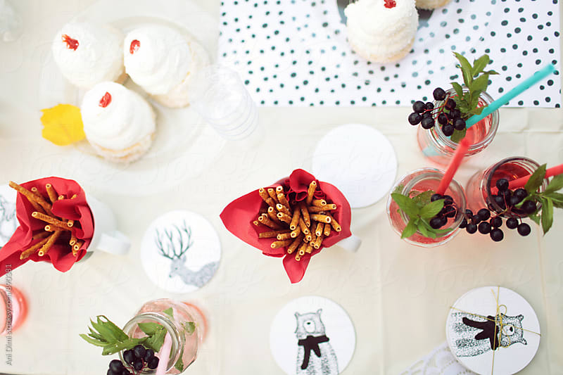 Drinks and snacks for party by Ani Dimi for Stocksy United