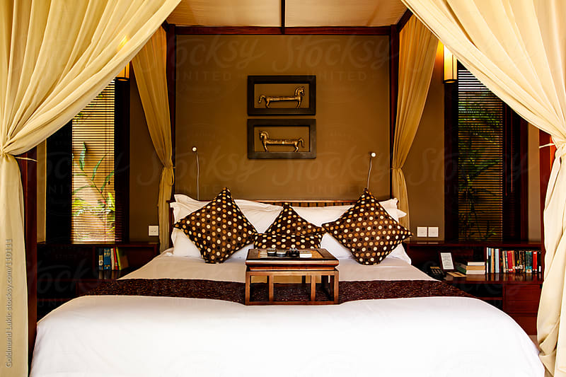 Bedroom at a Top Hotel by Goldmund Lukic for Stocksy United