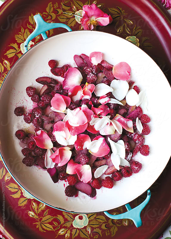 Rose Petal and Raspberry Jam Making by Sara Remington for Stocksy United