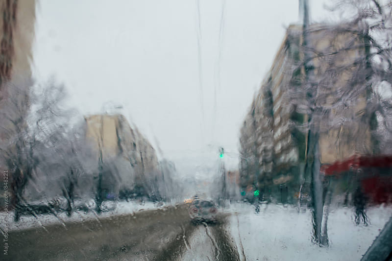 Streets covered in snow by Maja Topcagic for Stocksy United