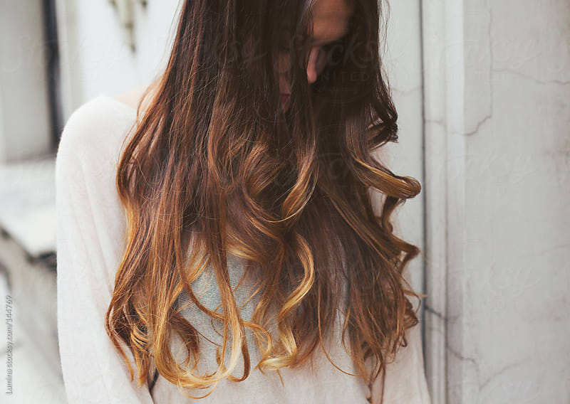 Woman With Gorgeous Long Hair by Lumina for Stocksy United