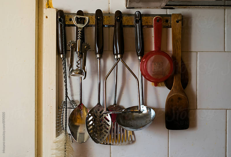 Kitchen Utensils on the Wall by Mosuno for Stocksy United