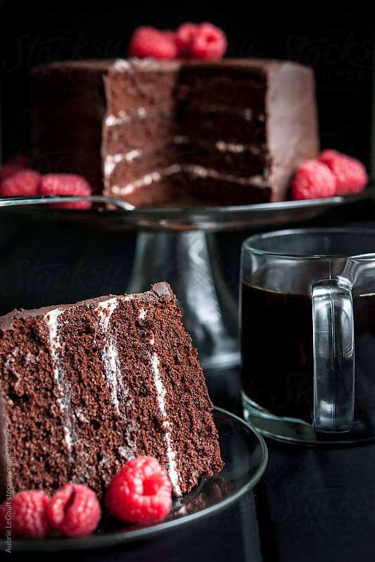 Chocolate Cake & Coffee II by Aubrie LeGault for Stocksy United