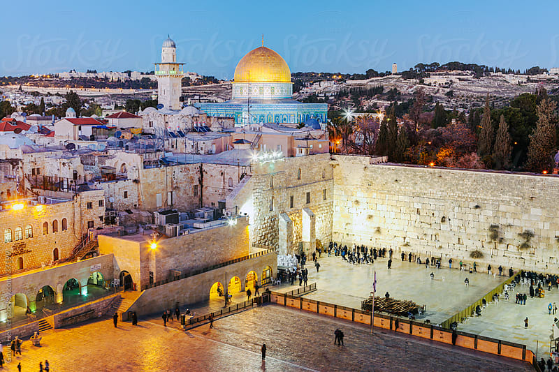 Israel, Jerusalem, Old City, Jewish Quarter of the Western Wall Plaza, Wailing wall by Gavin Hellier for Stocksy United