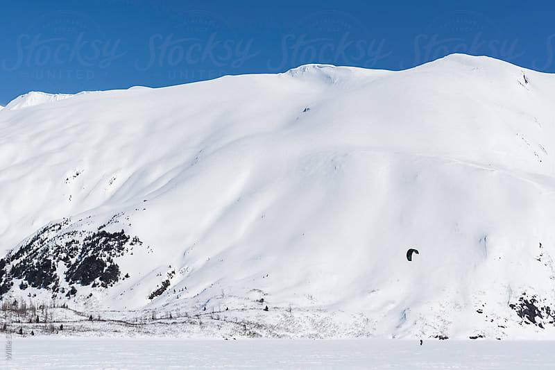 Winter Kite Skier by Willie Dalton for Stocksy United