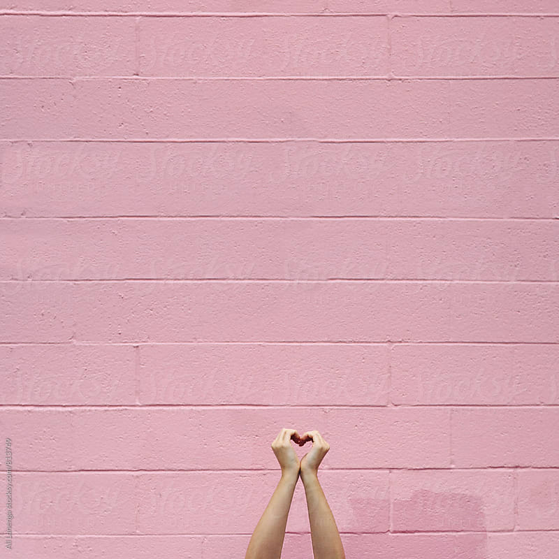 Pink Heart by Ali Lanenga for Stocksy United