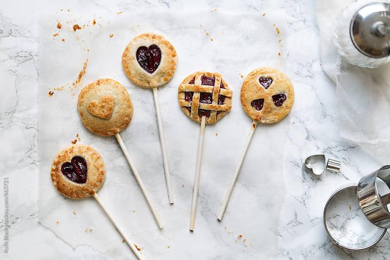 Valentine pie pops by Ruth Black for Stocksy United