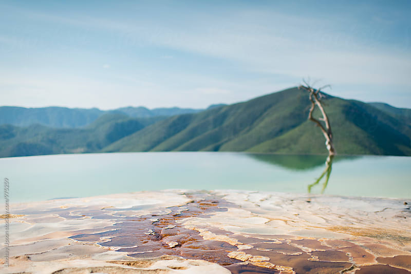 Hierve el Agua, Oaxaca by Lindsay Upson for Stocksy United