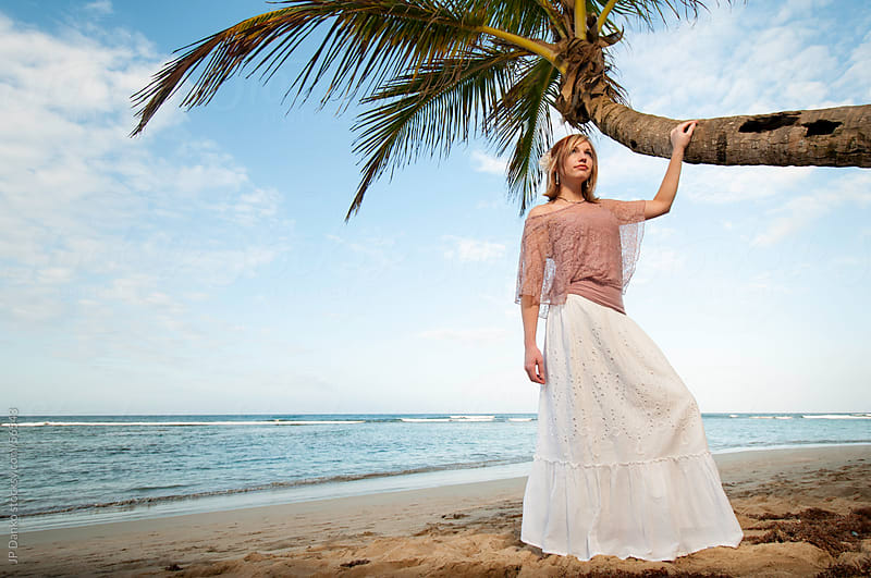 Beautiful Woman on a Relaxing Tropical Beach by JP Danko for Stocksy United
