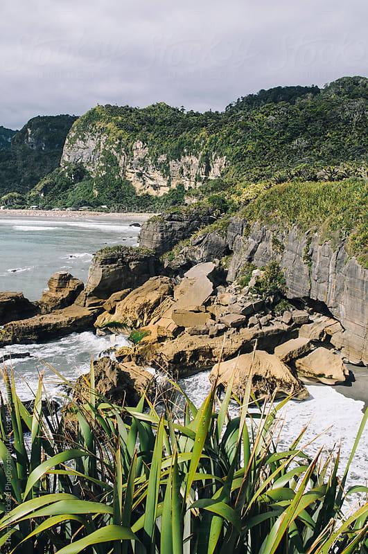 Pancake Rocks, Punakaiki, West Coast, New Zealand. by Thomas Pickard Photography Ltd. for Stocksy United
