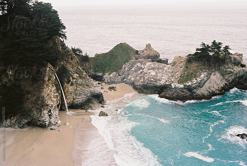 mcway falls california big sur area by Jesse Morrow for Stocksy United