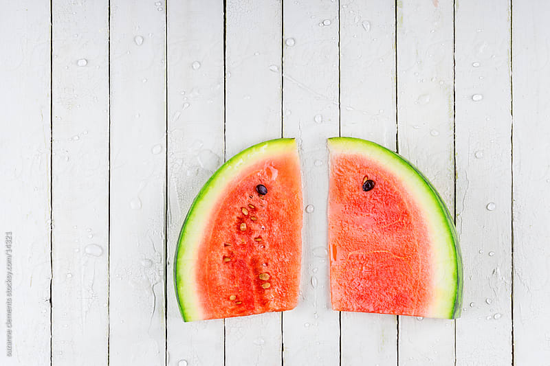 Fresh Organic Watermelon Slices by suzanne clements for Stocksy United