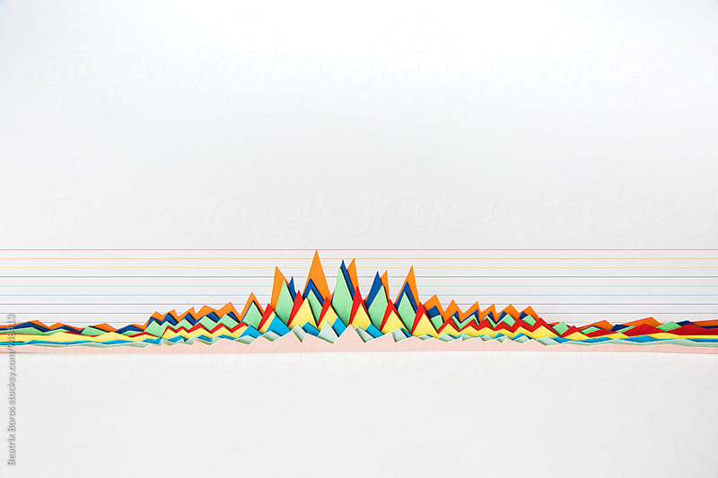 Handmade 3D charts showing results by Beatrix Boros for Stocksy United