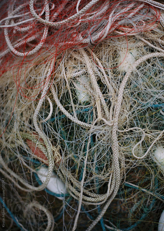 Fishing nets and ropes.  by Kirstin Mckee for Stocksy United