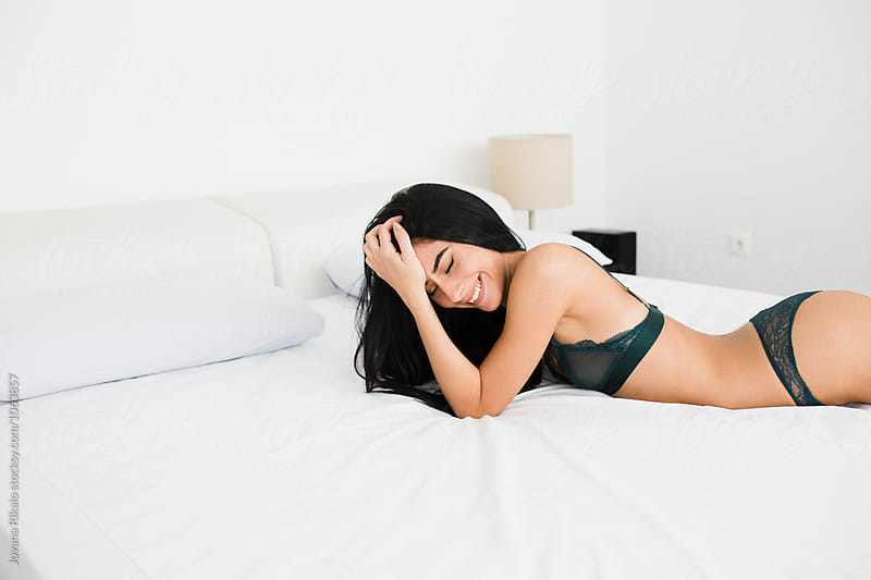 Attractive young woman in lingerie by Jovana Rikalo for Stocksy United