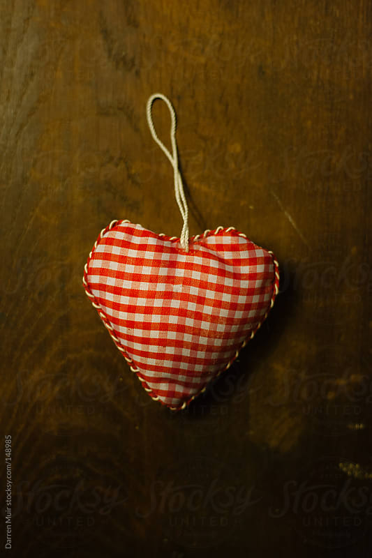 Love heart on wooden background. by Darren Muir for Stocksy United