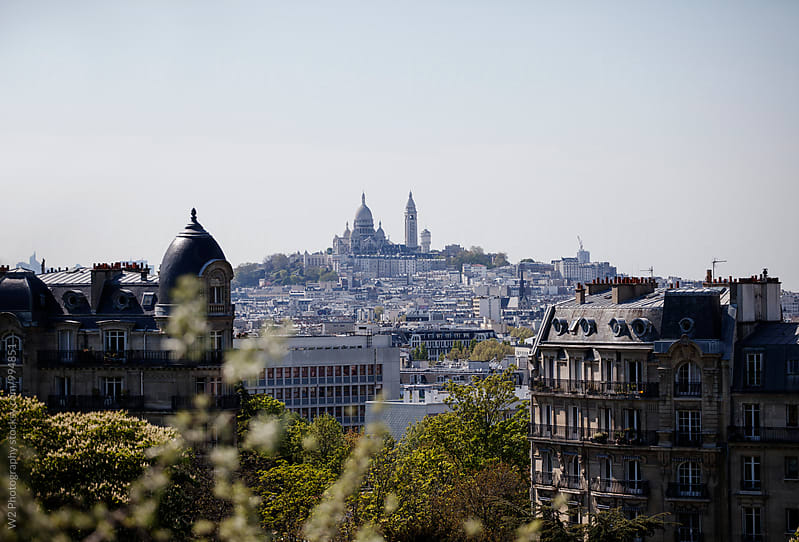 City view of Sacre Coeur basilica in Paris, France. by W2 Photography for Stocksy United