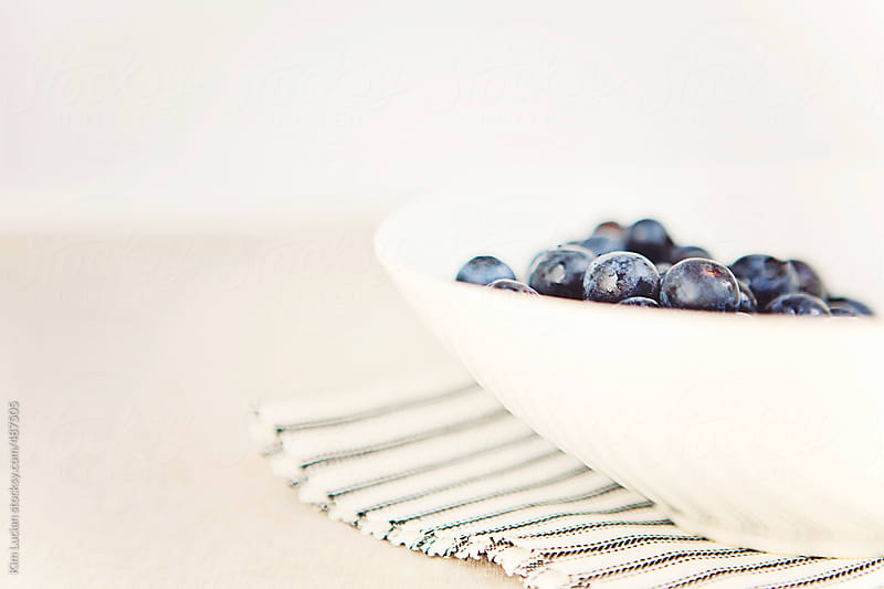 Blueberries in Bowl by Kim Lucian for Stocksy United