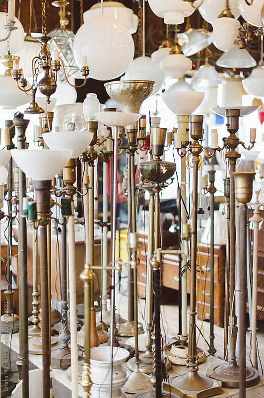 A Whole Lot of Vintage Lamps by Briana Morrison for Stocksy United