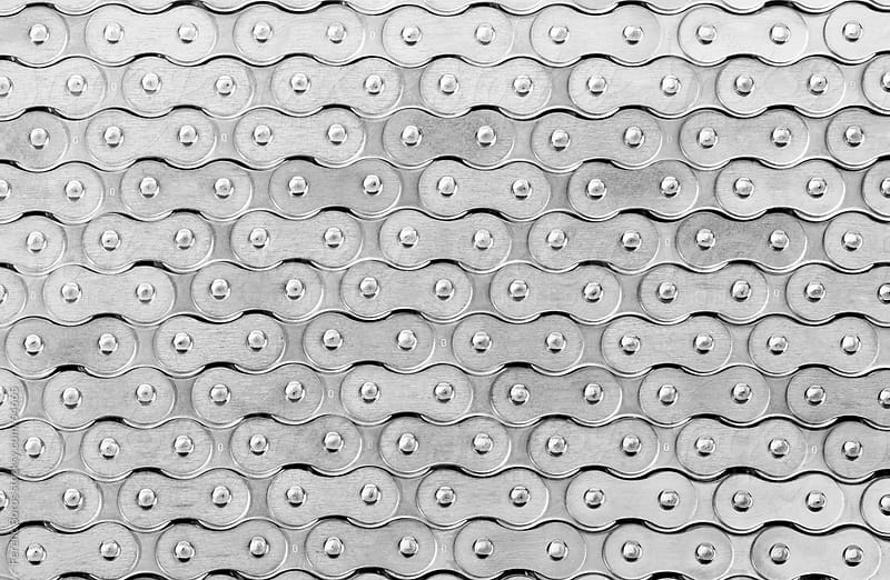 Abstract pattern made of roller chain by Ferenc Boros for Stocksy United