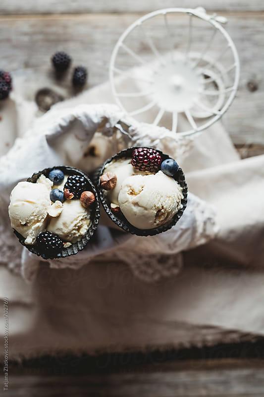 Macadamia nut ice cream by Tatjana Zlatkovic for Stocksy United