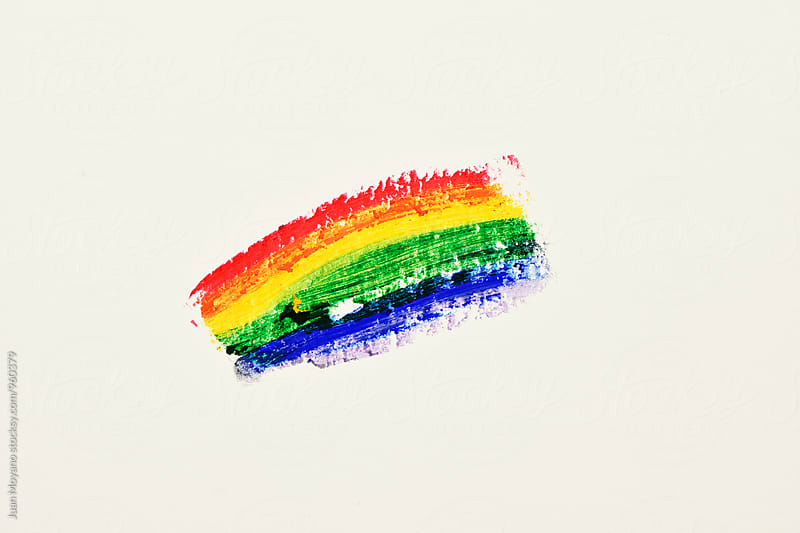 rainbow flag by juan moyano for Stocksy United