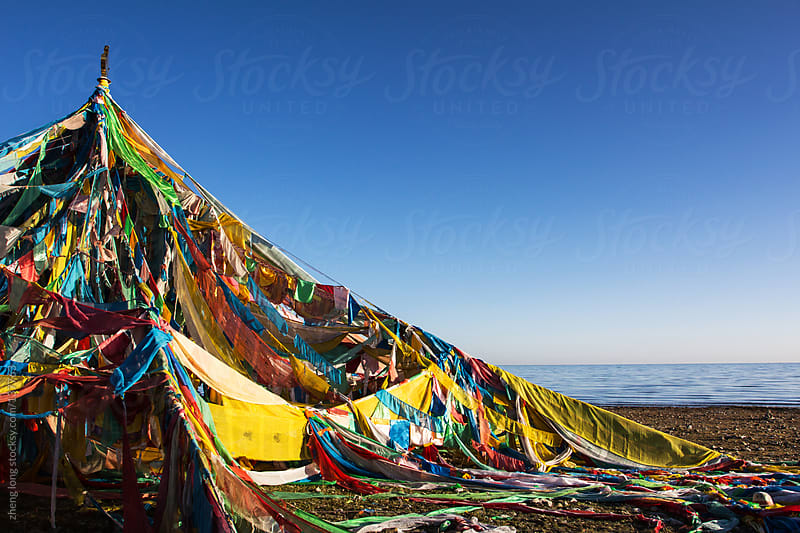 Buddhist Prayer Flags by zheng long for Stocksy United