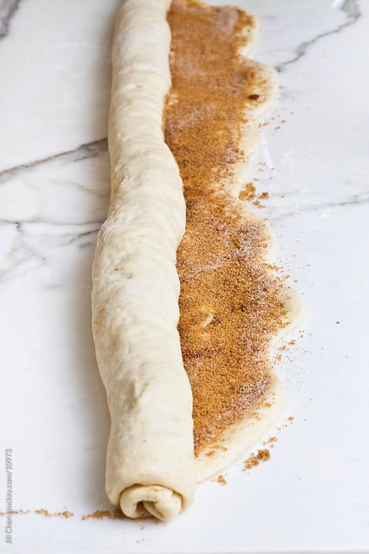 Making Cinnamon Rolls by Jill Chen for Stocksy United
