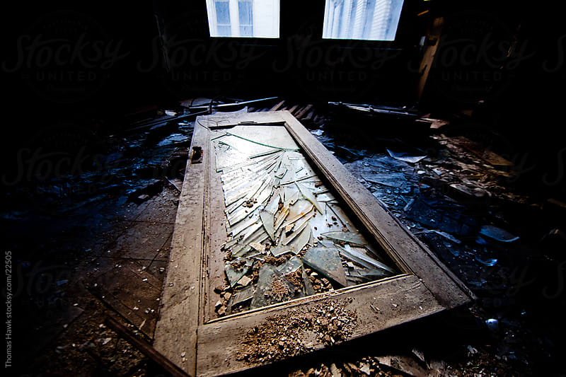 broken old door by Thomas Hawk for Stocksy United