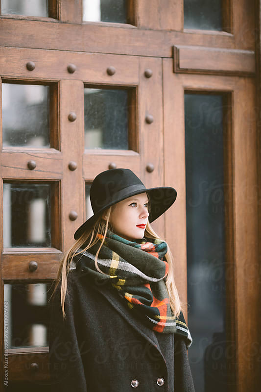 young woman with hat by Vesna for Stocksy United
