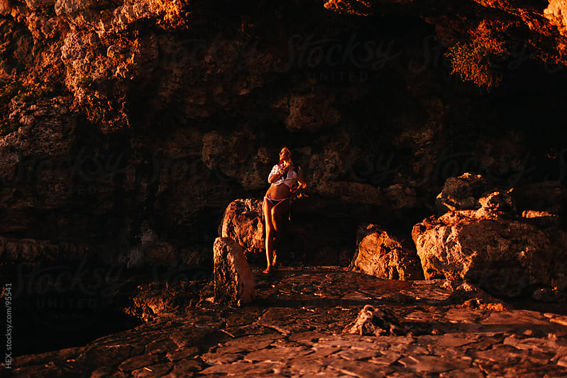 Sexy Woman into a Cave by HEX. for Stocksy United