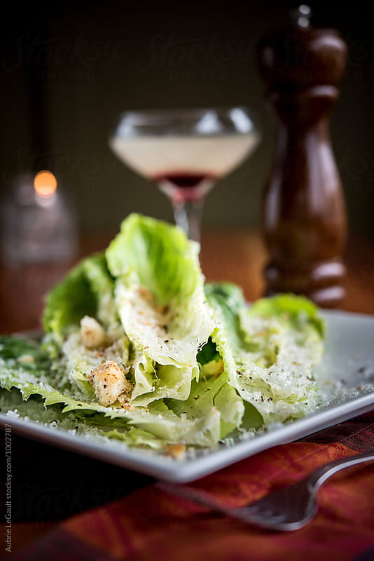 Caesar Salad with Cocktail by Aubrie LeGault for Stocksy United