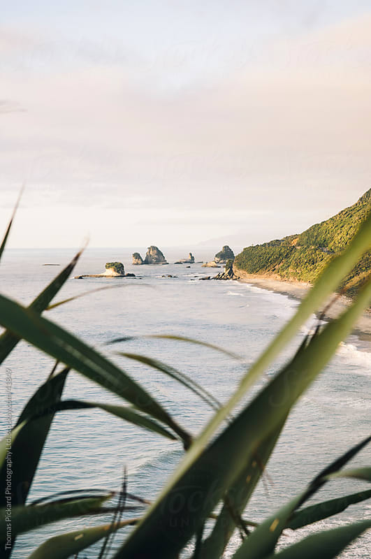 View along beach and ocean, the West Coast, New Zealand. by Thomas Pickard for Stocksy United