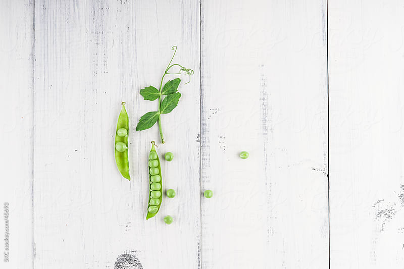 Fresh Organic Spring Peas by suzanne clements for Stocksy United