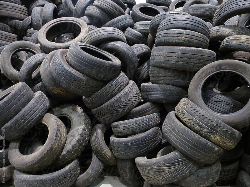 Pile of used tires, ready to be recycled by Per Swantesson for Stocksy United