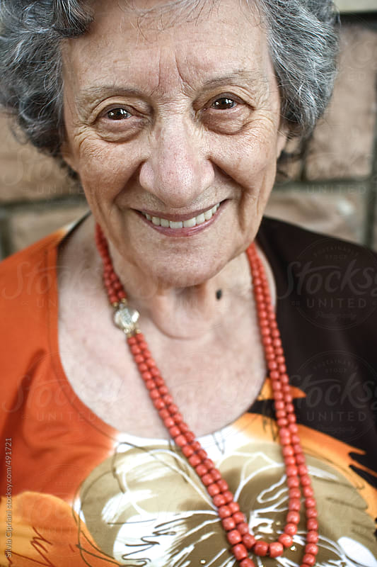 Grandma smiling by Silvia Cipriani for Stocksy United