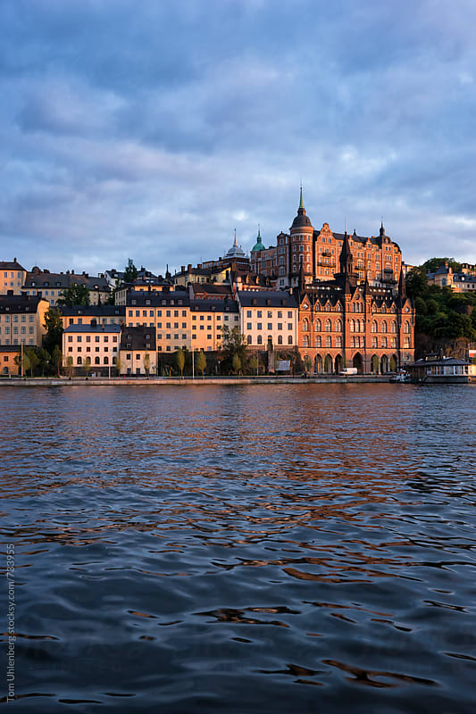 Stockholm, Sweden - Skyline of Södermalm District in Warm Sunset Light by Tom Uhlenberg for Stocksy United