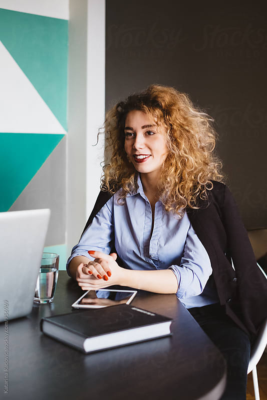 Young Businesswoman Working at the Office by Katarina Radovic for Stocksy United