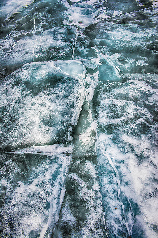 frozen ice close up by Andreas Gradin for Stocksy United