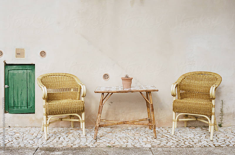 Chairs at a Spanish Villa by Andrew Spencer for Stocksy United