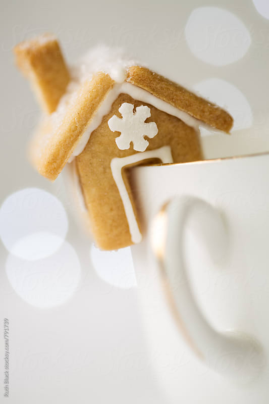 Mini gingerbread house by Ruth Black for Stocksy United
