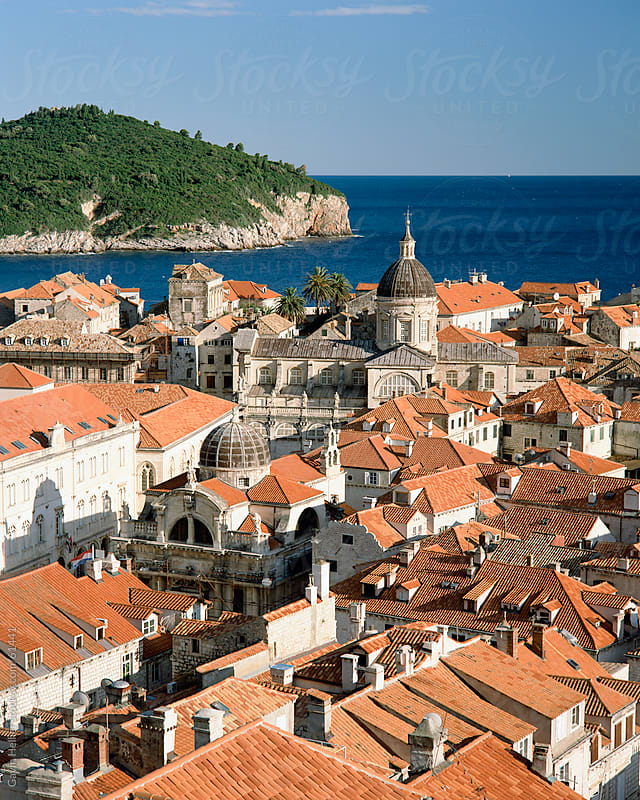 The rooftops of the Walled City of Dubrovnik, UNESCO World Heritage Site, Croatia, Europe by Gavin Hellier for Stocksy United
