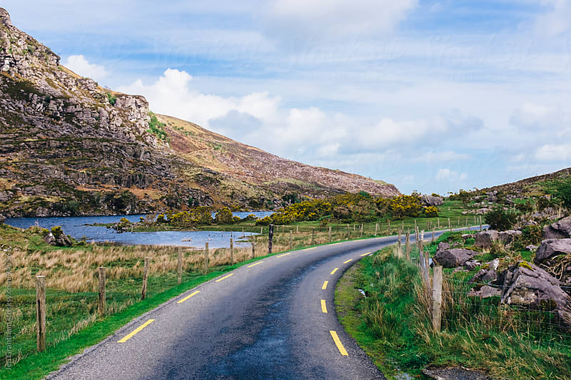 Driving through the Gap of Dunloe by Jen Grantham for Stocksy United