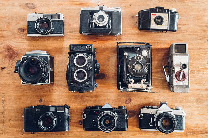 Vintage camera's by Sam Burton for Stocksy United